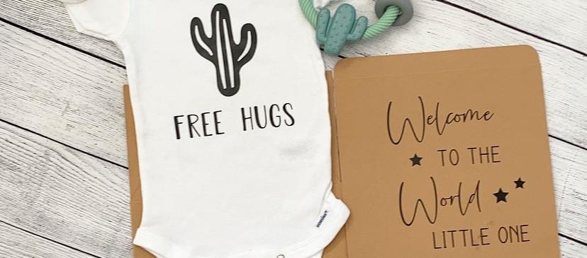 Cactus newborn giftbox