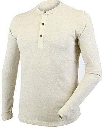 T-Shirt Manches Longues 3 Boutons 100% Coton Biologique
