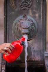 Une Gourde et l' eau du robinet....