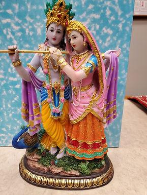Radha Krishna with Peacock