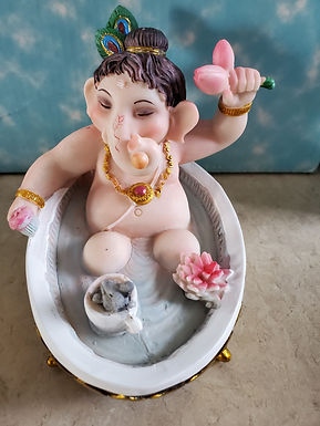 Young Ganesh Bathing 4""