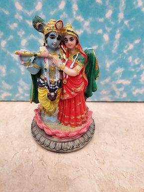 """3.5"""" Radha Krishna Lotus"""