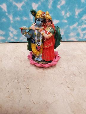 """2.5"""" Radha Krishna Lotus"""