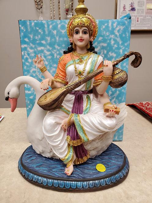 "13.5"" Saraswati on Swan"