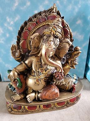 "Bronze Ganesh Reclines 8"""