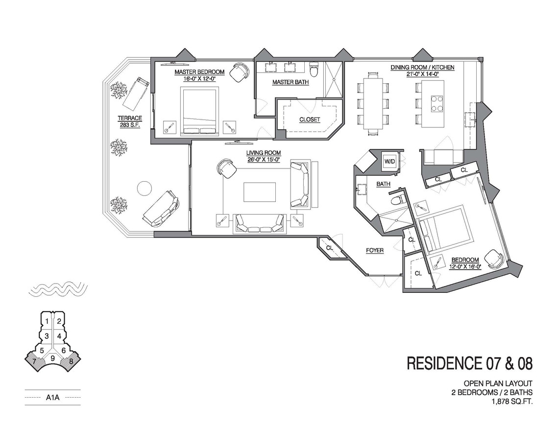 Chalfonte open floorplan unit 07 and 08.