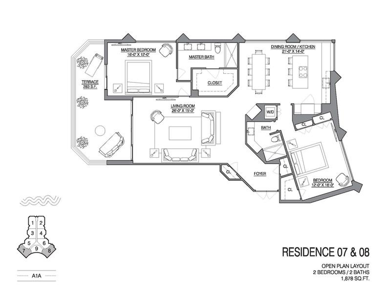 Chalfonte open floorplan unit 07 and 08.
