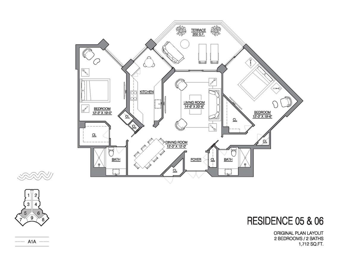 Chalfonte original floorplan unit 05 and