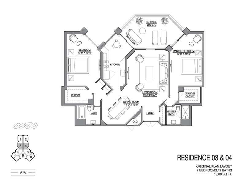 Chalfonte original floorplan unit 03 and