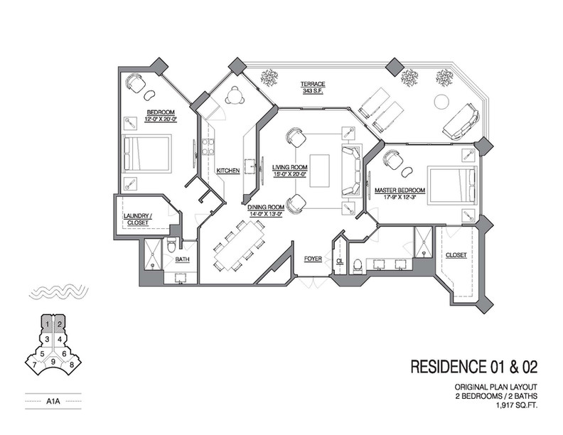 Chalfonte original floorplan unit 01 and