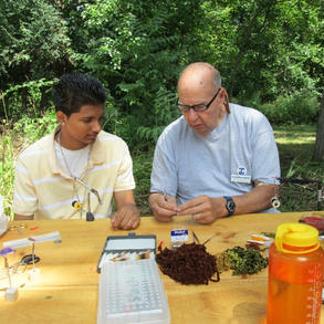 Fly tying workshop with members of the Capital District Trout Unlimited