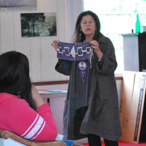 Kay Olin, Haudenosaunee Mohawk storyteller, presenting Native stories of the region.