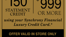 Limited Time Offer from Synchrony!
