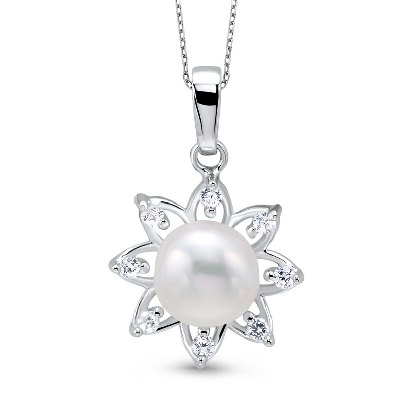 Sterling Silver & FW Pearl Pendant