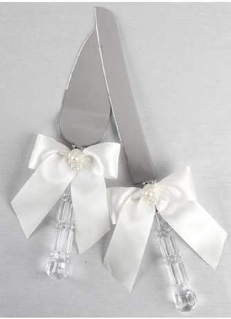 Charming Pearls Cake Knife & Server