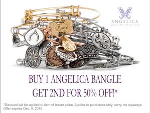 Special Offer: Angelica BOGO 1/2 Off !