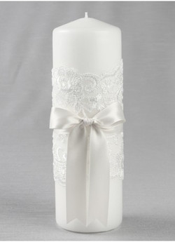 Chantilly Lace Pillar/Unity Candle