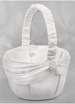 Charming Pearls Flowergirl Basket