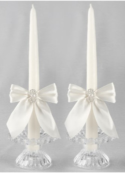 Charming Pearls Taper Candles