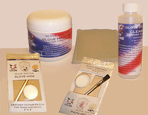 Glove Doctor Glove Care Products Conditioner Cleaner Shock Pad and Leather Patch