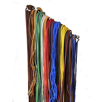 "Leather Baseball & Softball Glove Laces in Bulk 1/4"" x 72""  (10 lace pack)"