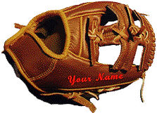 Baseball Glove Custom Embroidering