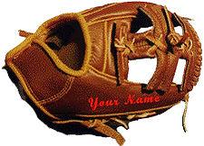 Baseball Glove Custom Embroidering