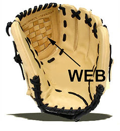 Web sizes and designs are not standard, they differ from glove to glove.A glove's web is made specific to a specific model and designs change from year to year. I can replicate or reconstruct an exact copy. You are welcome to send me the original web or entire glove for exacting replication. I am always very busy with this specialized work and return could take up to 4 to 6 weeks.  This operation cost is for this operation by its self. This operation cost may be included or a portion as part of the overall cost combined with other restoration operations. The cost assessment for a restoration repair will never exceed $299 and the average is generally between $135 and $200 depending on the in-hand assessment.