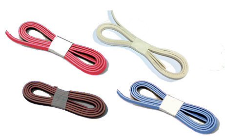 """Standard Color Glove Laces 1/4"""" x 72""""  each 2 - 2.4 mm thickness"""