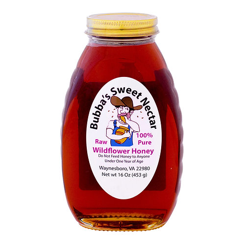 Wildflower Honey - 16 Ounces 1 Lb Jar