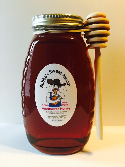 Case Wildflower Honey -(12) 32 Ounces 2 Lb Jar