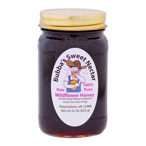 Case Wildflower Honey -(12)  22 Ounces Pint Jar