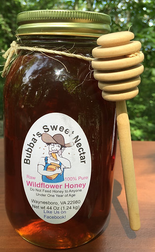 Wildflower Honey - 44 Ounces Quart Jar