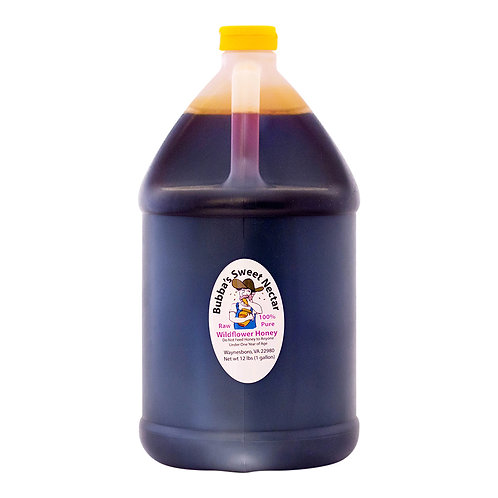 Case Wildflower Honey 1 Gallon- (4) 12 Lbs