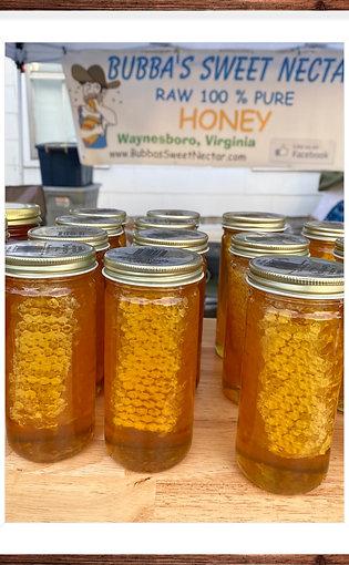 Comb Honey 12 oz  Net wt Jar