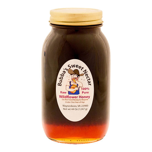 Case Wildflower Honey - (12) 44 Ounces Quart Jar