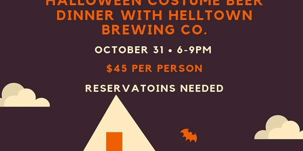 Costume Beer Dinner with Helltown Brewing Co.