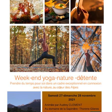 week-end yoga -nature -détente 27-28 novembre