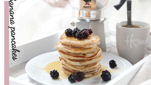 Breakfast banana pancakes recipe