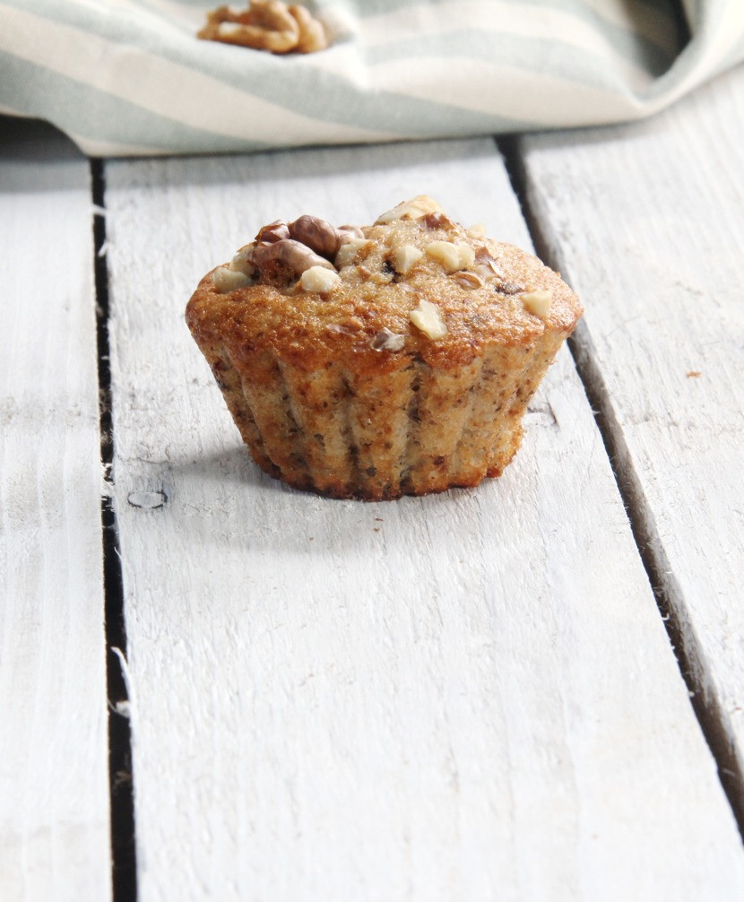 Best banana muffins ever with chocolate and nuts