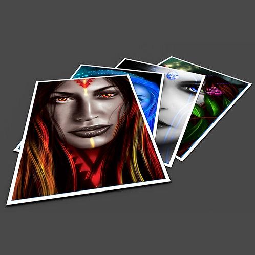 Goddesses Pack - A3 Prints x 5