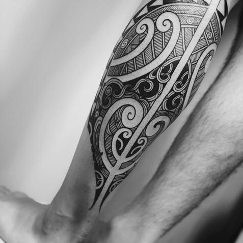 Ta Moko Calf Tattoo | Ta Moko Brisbane