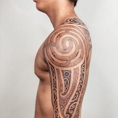 Maori Ta Moko Full Sleeve