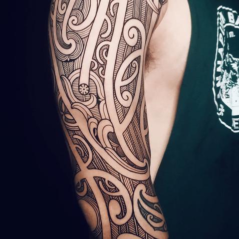 Ta Moko Half Sleeve | Maori Tattoo