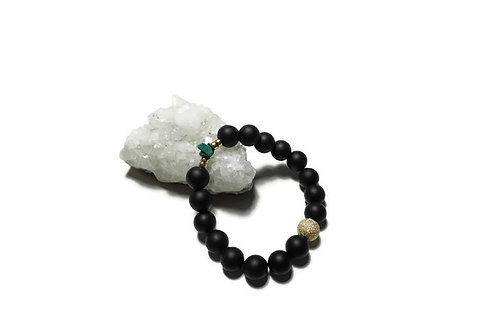 Matte Black Onyx & Malachite Signature Single