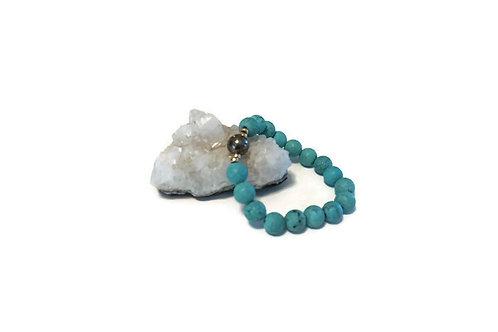 Matte Turquoise w/ Pyrite Single