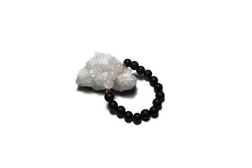 Black Onyx w/ Rose Quartz Single