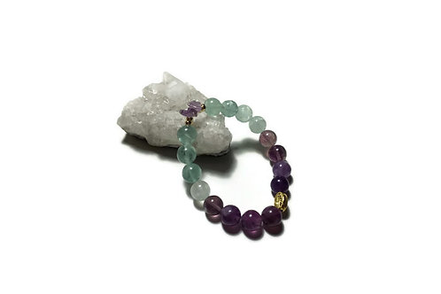 Ombre Fluorite & Amethyst Signature Single