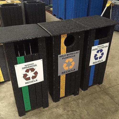 Contenedores plásticos 100% reciclados