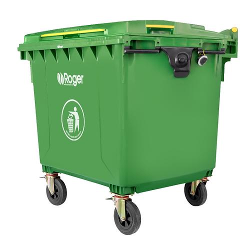 contenedores 4 ruedas verde